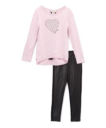 Pink Heart Pullover   Leggings - Girls 4b2a267bb09d