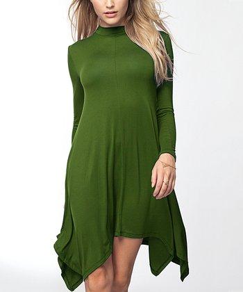 60e8b5a0d9e Olive Handkerchief Dress - Women