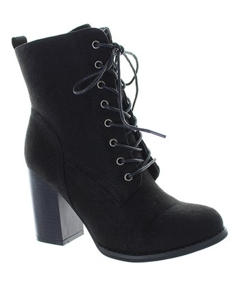 cb072f71b07b Black Lace-Up Dahlia Ankle Boot - Women