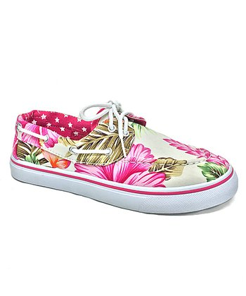 fa7cc1089095f Fuchsia Hawaiian Boat Shoe - Women