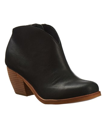 058dadf31d8be Black Tulip Leather Bootie - Women