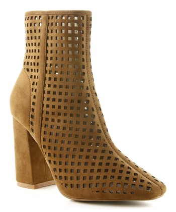 Camel Perforated Betisa Bootie - Women