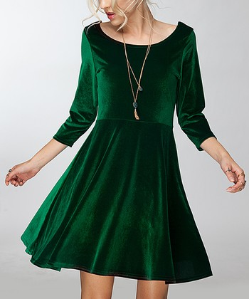 024c87e124b Hunter Green Empire-Waist Dress - Women