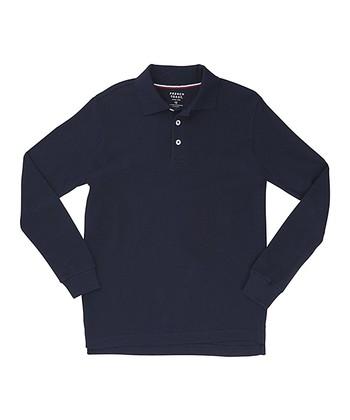 cef4d4f39f0 Navy Long-Sleeve Piqué Polo - Boys
