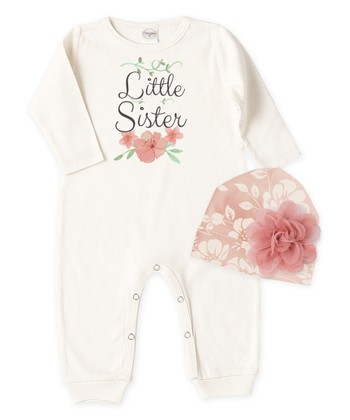 9ceceb68140 Ivory  Little Sister  Playsuit   Primrose Beanie - Newborn   Infant