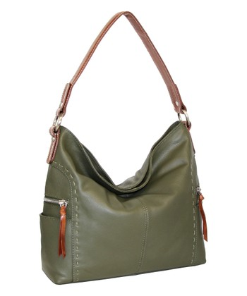 Green Leather Kyah Hobo Bag