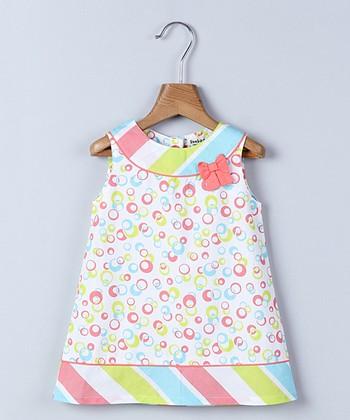 0f5c4486fd923 White & Pink Bubble & Stripe Sleeveless A-Line Dress - Infant, Toddler &  Girls