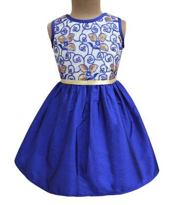 aa8100db27796 Royal Sea Leaf Jamboree A-Line Dress - Toddler & Girls
