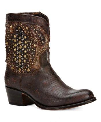 3738c7a5fac Dark Brown Deborah Deco Short Leather Boot - Women