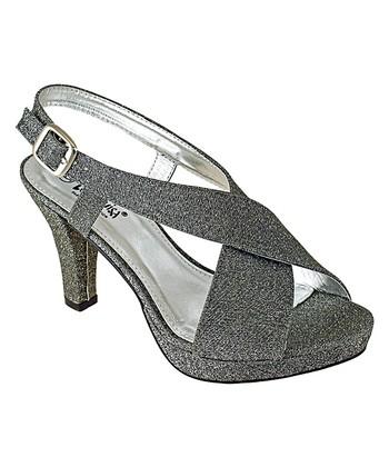 4b6ba5cb5db6 Pewter Crossover Glitter Sandal - Women