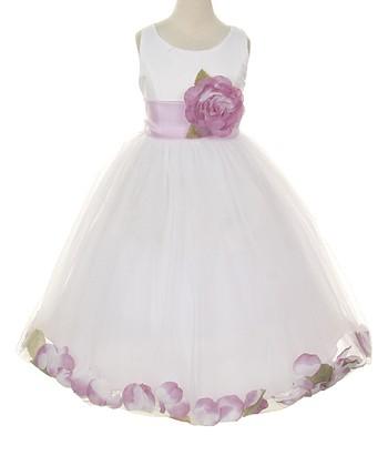 106e0c3cfbb White   Lilac Rose Petal Dress - Girls