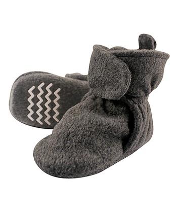 841573bb597 Dark Gray Fleece-Lined Booties - Kids