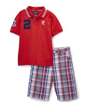 d9543aa5c ... Beverly Hills Polo Club 227 results. Red Polo   Plaid Shorts - Infant