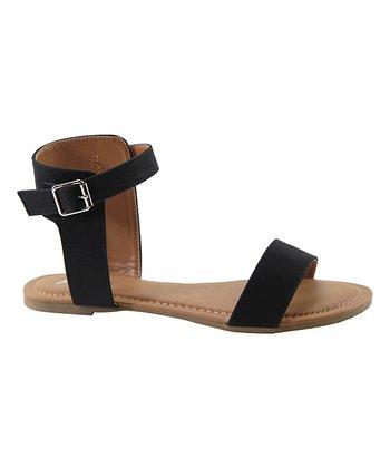 41fbb0232e00 Black Brass Ankle-Strap Sandal - Women