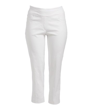 7f1e3c14b6f25 White StretchTech Twill Pant - Women