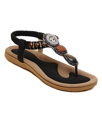 8f10317dba82 Black Embellished Sandal - Women