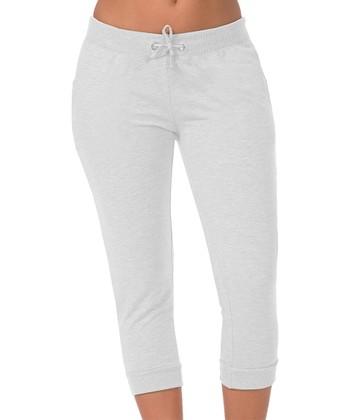 c0fed7078 White Capri Joggers - Women
