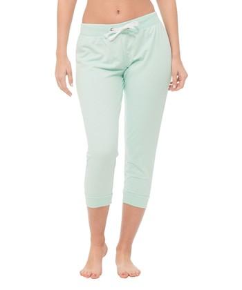 31c0d937e Mint Green Capri Joggers - Women