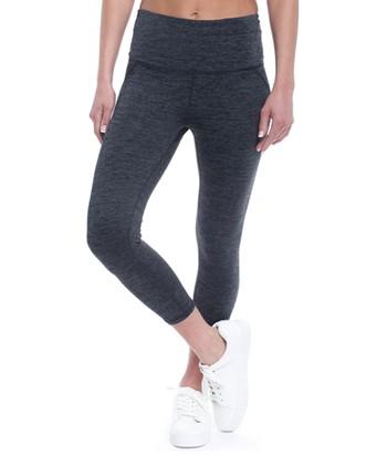 7a14f1d07c Heather Charcoal Om High-Rise Yoga Capri Leggings - Plus