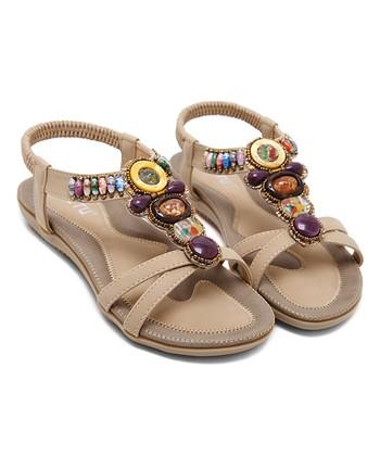 41850aef6544 Apricot Stone-Embellished Sandal - Women