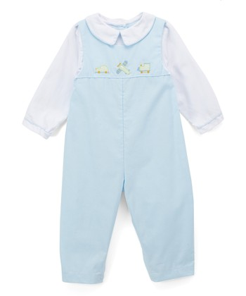 2dc2c978a4c7 Blue   White Airplane Playsuit - Infant