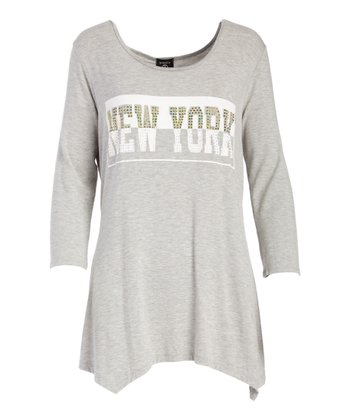 8e15b9361d1a4 Heather Gray  New York  Sidetail Top - Women