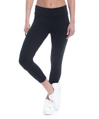 43397b3ab37e5 Black Yoga Capri Leggings - Women