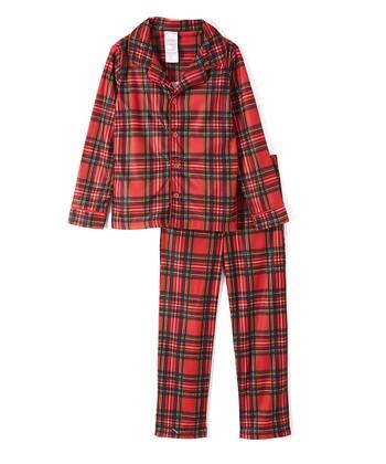 a078a4d91f Red Stewart Plaid Button-Up Pajama Set - Toddler