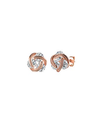 dd6870e44 18k Rose Gold-Plated Stud Earrings With Swarovski® Crystals