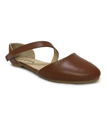bd7476efd1db Light Brown Pleasure Strap D'Orsay Flat - Women