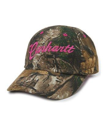 Dark Brown   Hot Pink Camo  Carhartt  Baseball Cap 7763dd6857bb