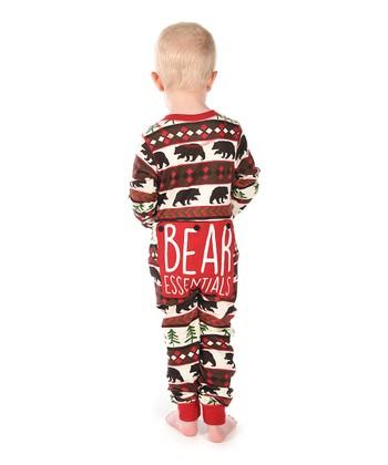 Red   Brown Bear Flapjack Pajamas - Kids 38446b890