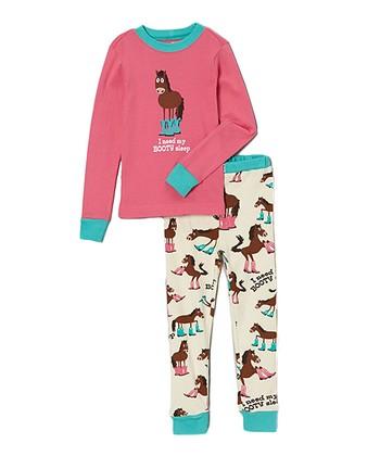 58cef61722 Pink  booty Sleep  Pajama Set - Toddler   Girls