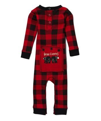c5c543551d0 Red Buffalo Check  bear Cheeks  Flapjack Pajamas - Infant