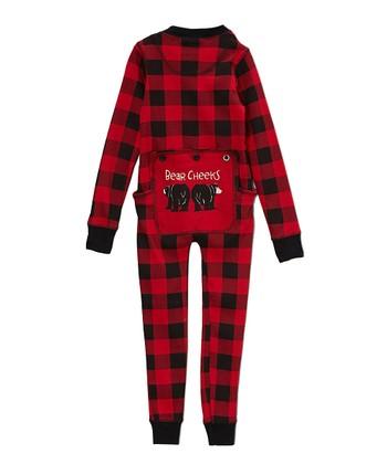 Red Buffalo Check  bear Cheeks  Flapjack Pajamas - Toddler fc408b6ef