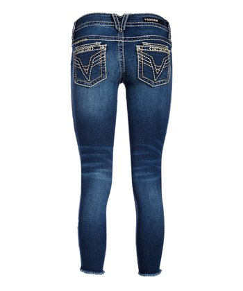 c31fa3e5b4f Medium Wash Dublin Double-V Denim Skinny Jeans - Women