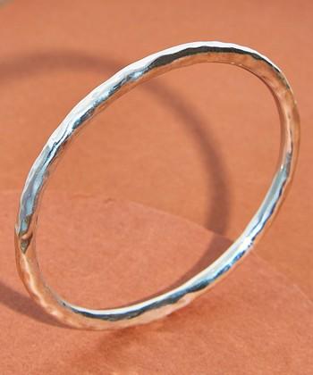 59ec82154 Sterling Silver Oval Hammered Bangle