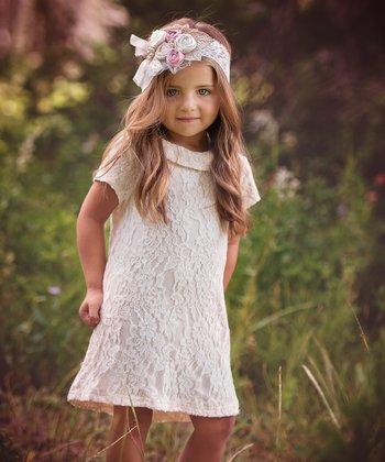 bc256c2d86 Cream Floral Lace Andrea Tunic - Infant