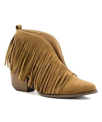 bf78efd43543 Camel Fringe Carrie Ankle Boot - Women · Black Emily Lace-Up ...