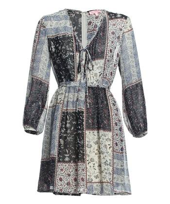 Gray Paisley Dress
