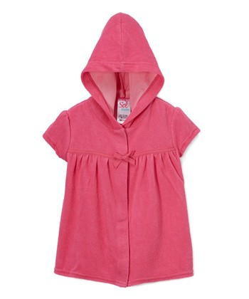 7040821412 Pink Hooded Cover-Up - Toddler