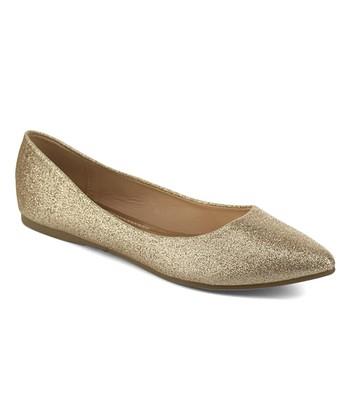 c2d277736f7f74 Gold Glitter Kiko Flat - Women