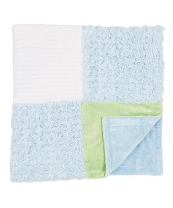 46cd703b9c2 Blue   Green Panel Fleece Blanket