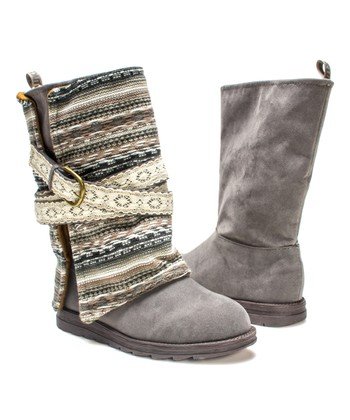 d13f30f9d70 Gray Nikki Belt-Wrapped Boot - Women · Black Fleece-Lined ...