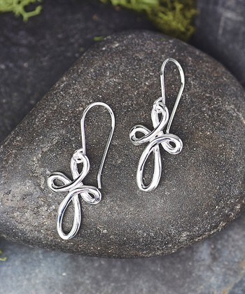 e7572757a Sterling Silver Twist Cross Drop Earrings