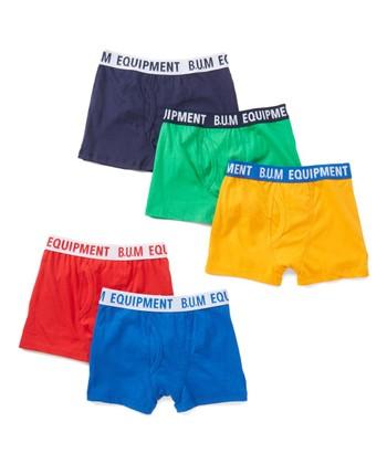 78c04356742b0 Red   Blue Five-Pair Boxer Brief Set - Boys