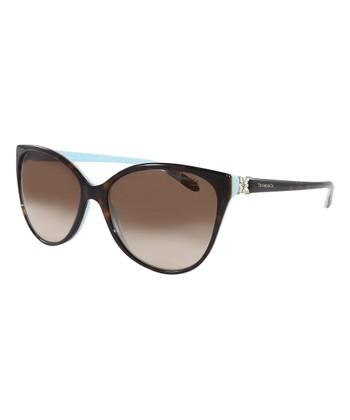 9a280a190c Brown Havana Blue Gradient Cat-Eye Sunglasses
