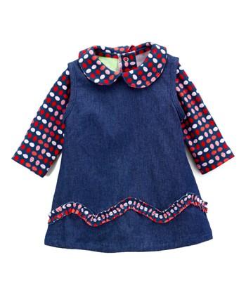 9b1c2a00f Red Eggdrop Bodysuit & Blue Jumper - Infant