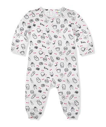 e5dcc40e0 White & Black 'Yes No' Playsuit - Newborn & Infant