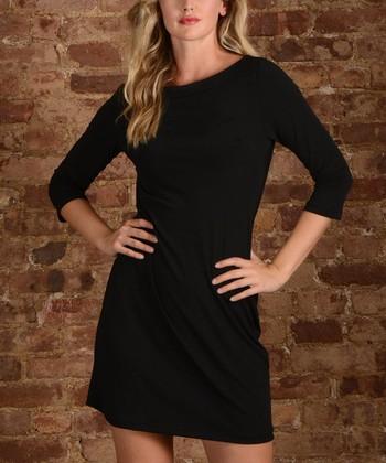 25c943f8 Black Three-Quarter Sleeve Sheath Dress - Plus